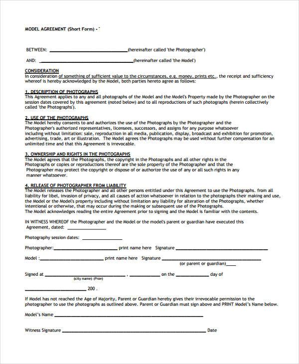 property model agreement form