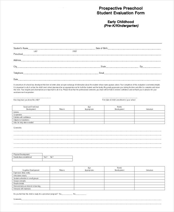 prospective preschool student evaluation form1