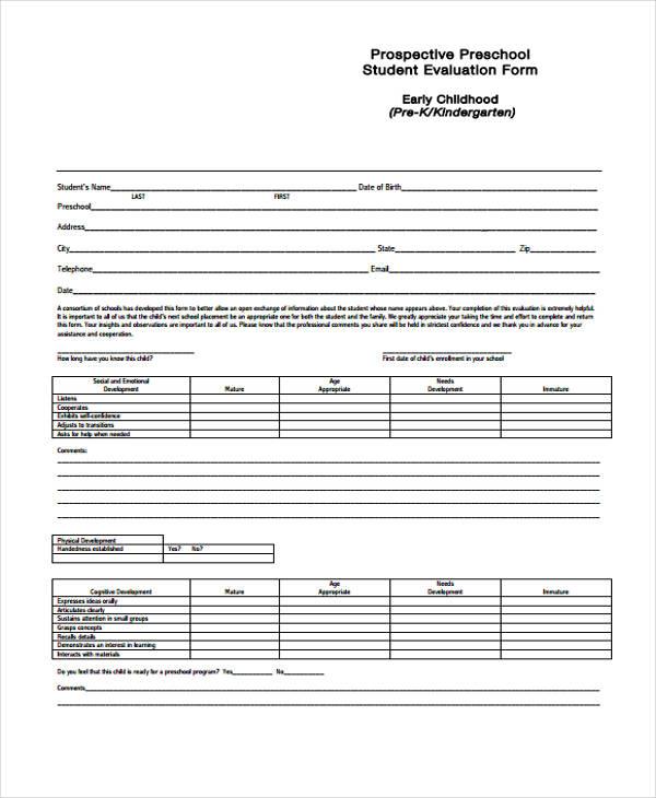 prospective preschool student evaluation form2