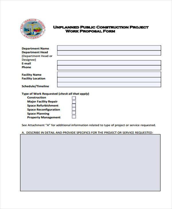 10+ Work Proposal Form Samples - Free Sample, Example Format Download