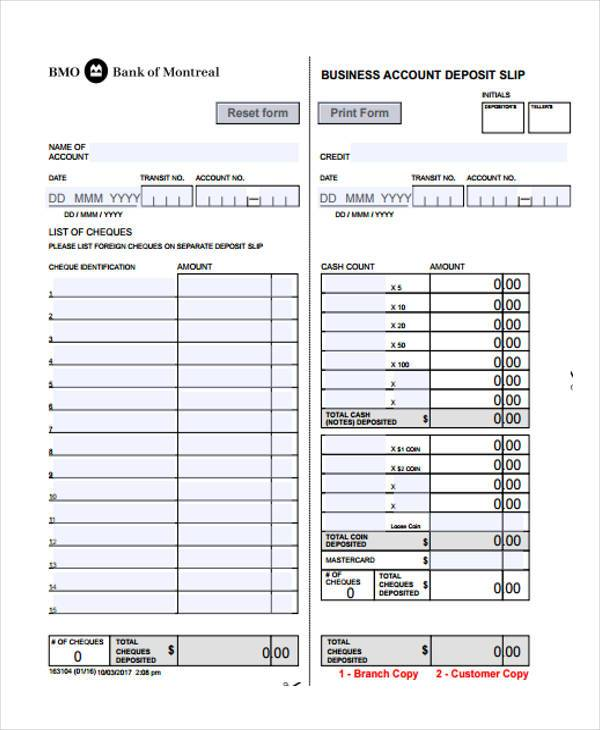 purchase order slip form