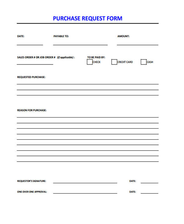purchase request form pdf