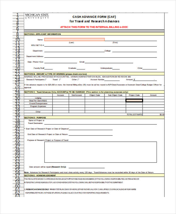 Purchase Requisition Form Excel