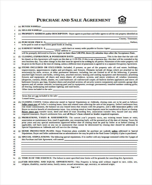 Business Agreement Form Template – Business Sale Agreement
