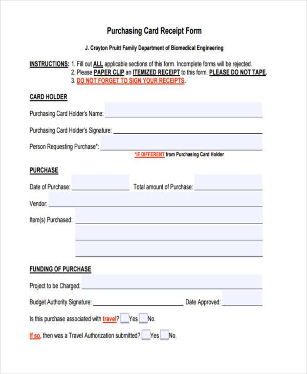 purchasing card receipt form2