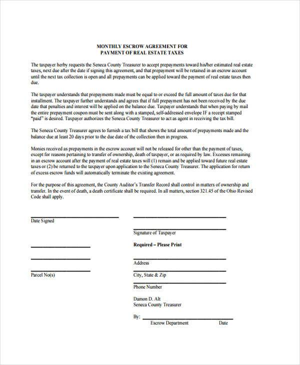 10+ Escrow Agreement Form Samples - Free Sample, Example Format