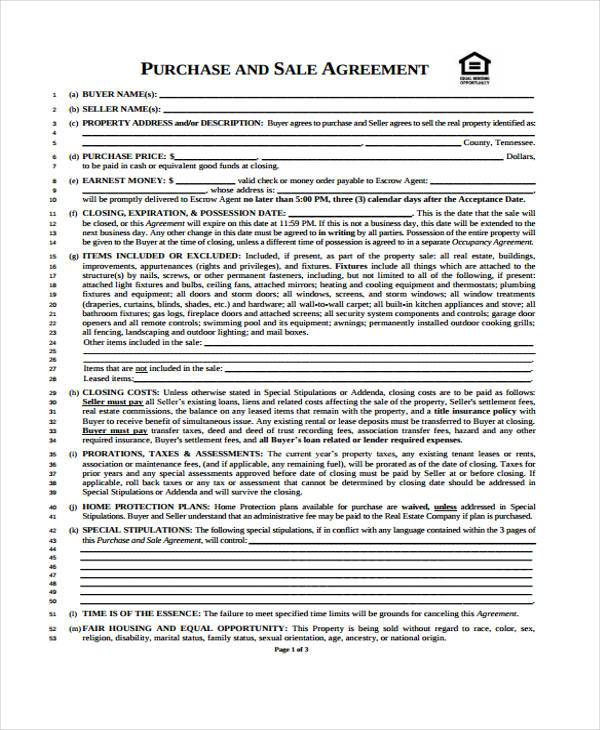 real estate purchase and sale agreement form1