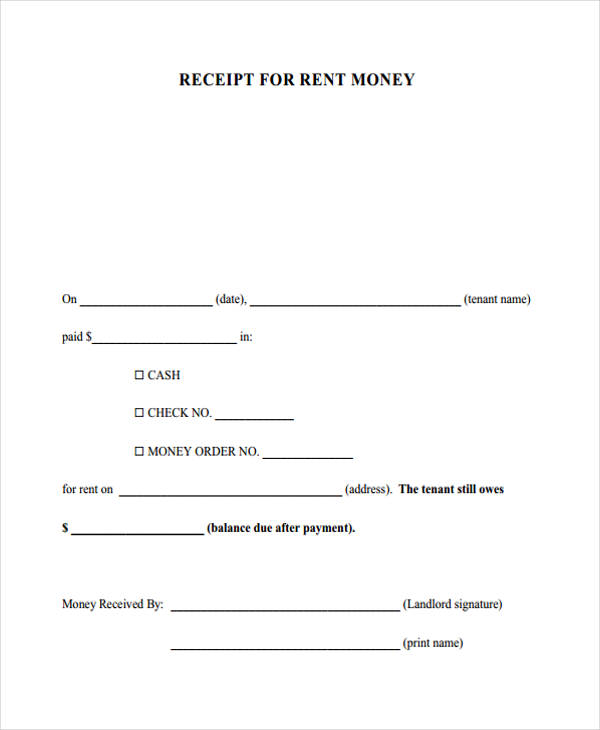 Printable Receipt Forms 41 Free Documents in Word PDF – Payment Received Form