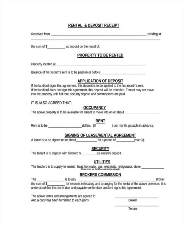 42 Free Receipt Forms