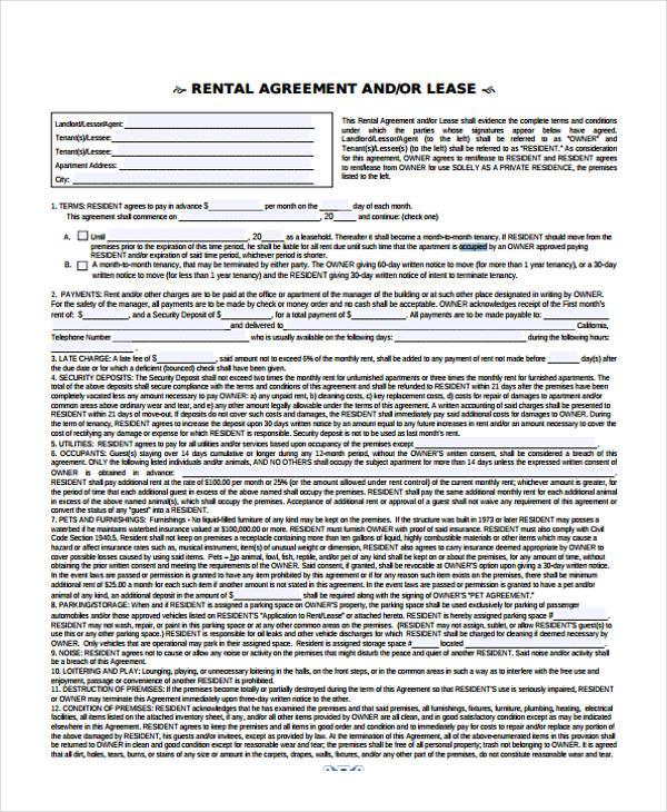rental lease agreement renewal form