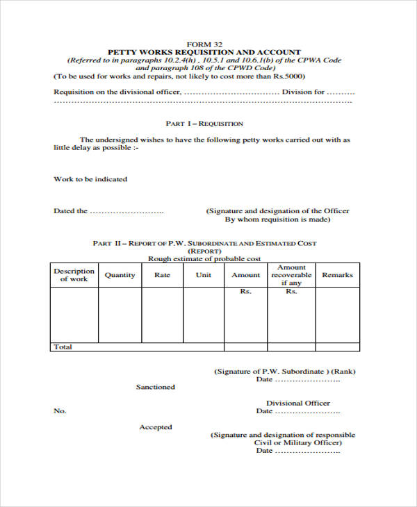 requisition split account form