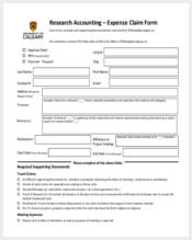 research accounting expense claim form12