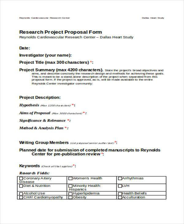 research project proposal form1