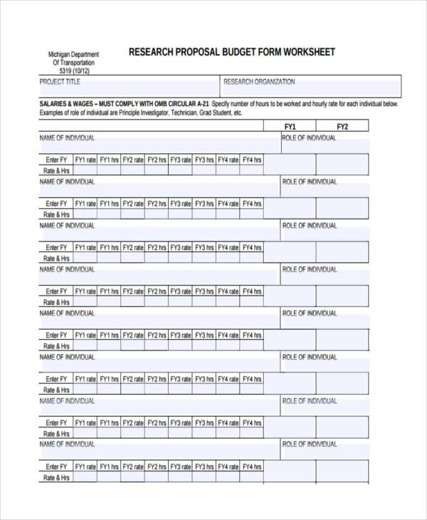 research proposal budget form2