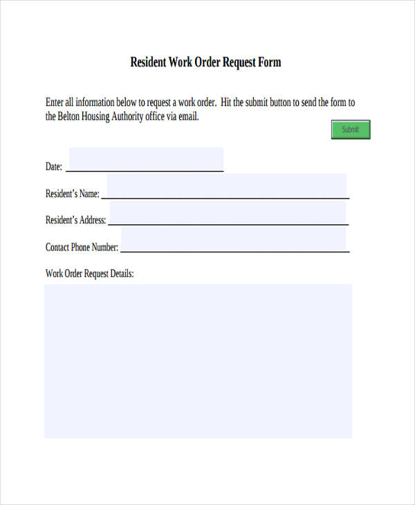 resident work order request form2