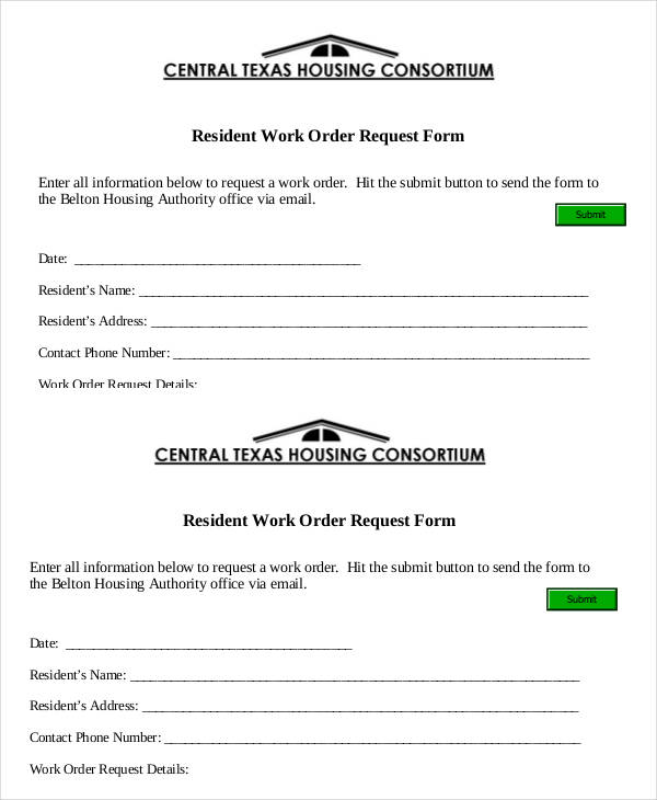 resident work order request form3