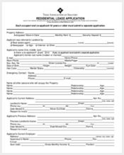 residential lease application form
