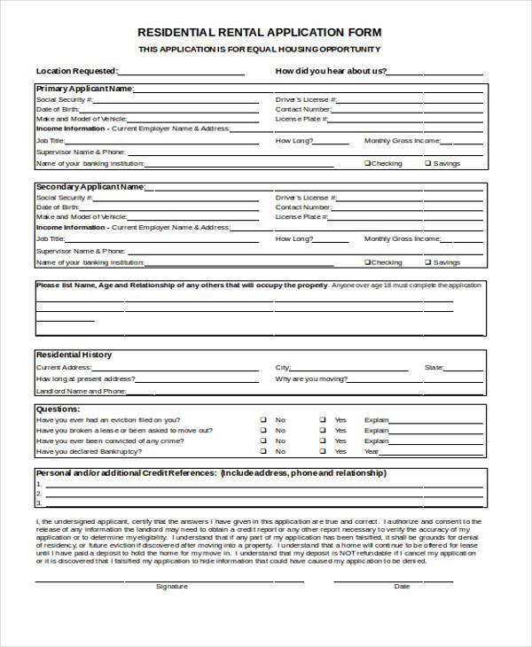 residential rental application form1