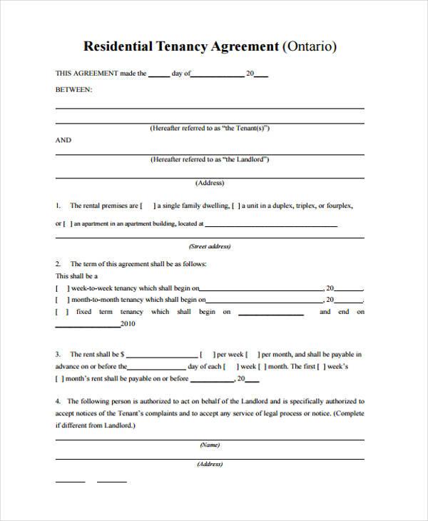 residential tenancy agreement form2