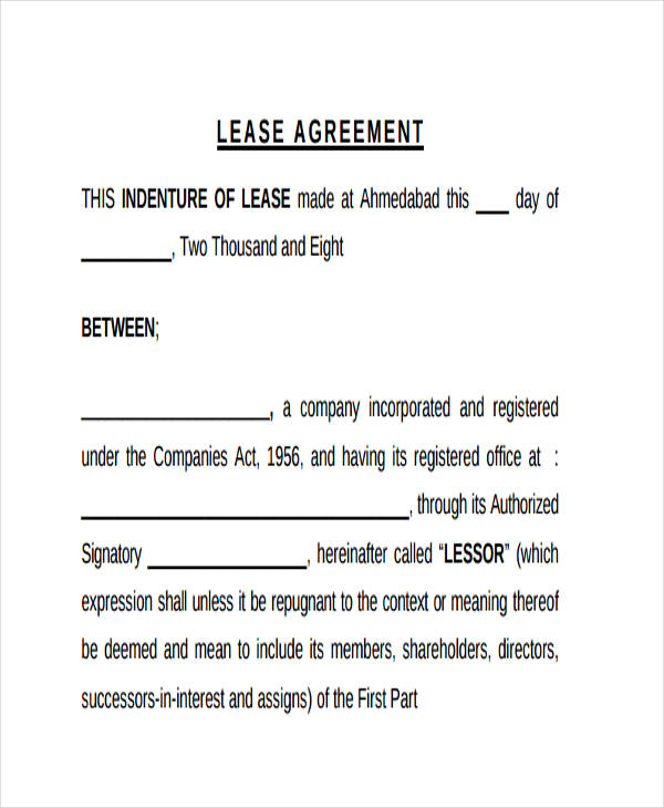 restaurant business lease agreement form