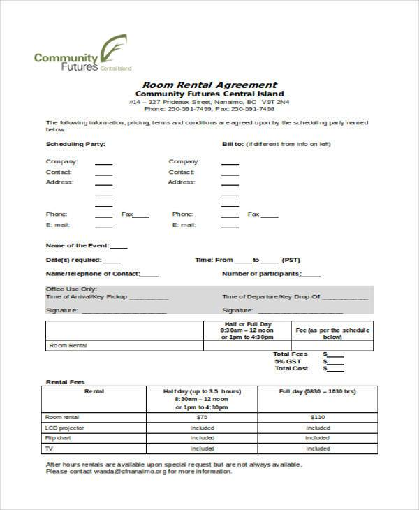 sle roommate rental agreement form www
