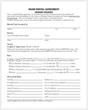 room rental agreement form3