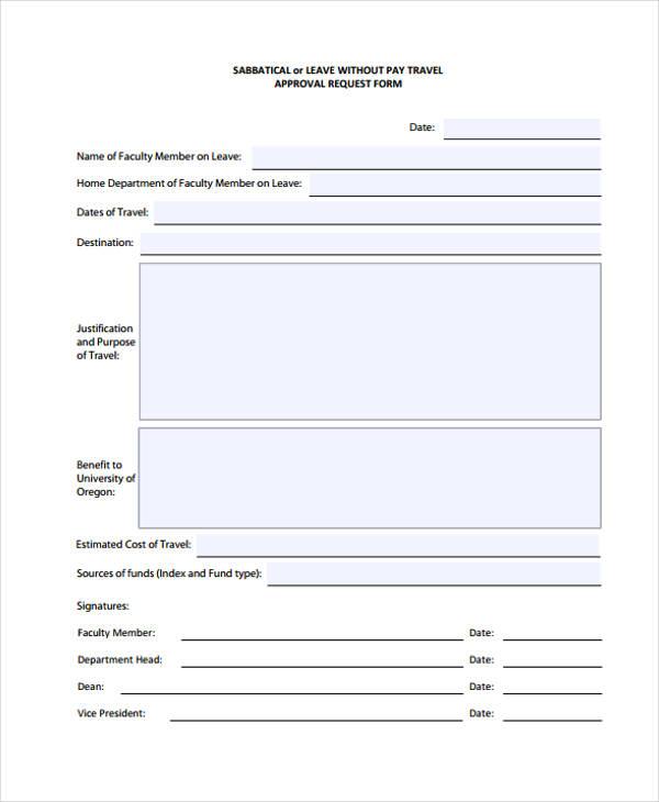 sabbatical travel approval request form1