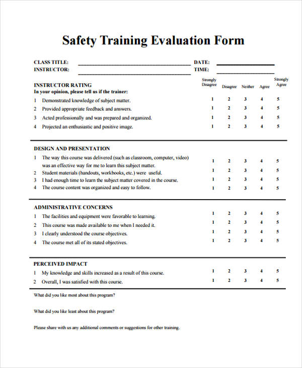 safety training session evaluation form1