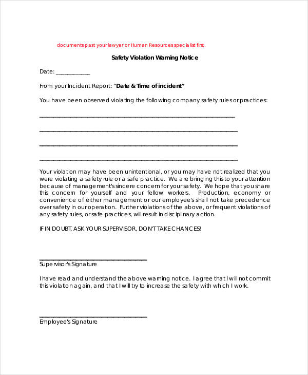 free 28  notice form templates in pdf