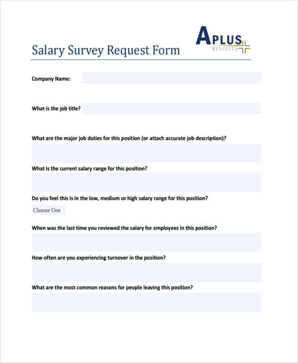 salary survey request form3