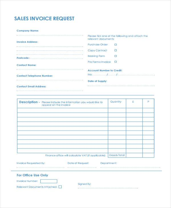 Bill Of Sale Example >> FREE 37+ Invoice Forms | PDF