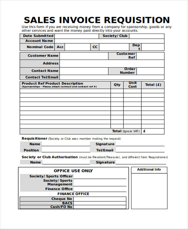 Cash Sales Invoice. Sales Invoice Request Form Invoice Forms In