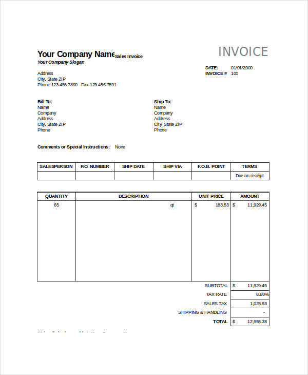 FREE 24+ Invoice Forms in Excel