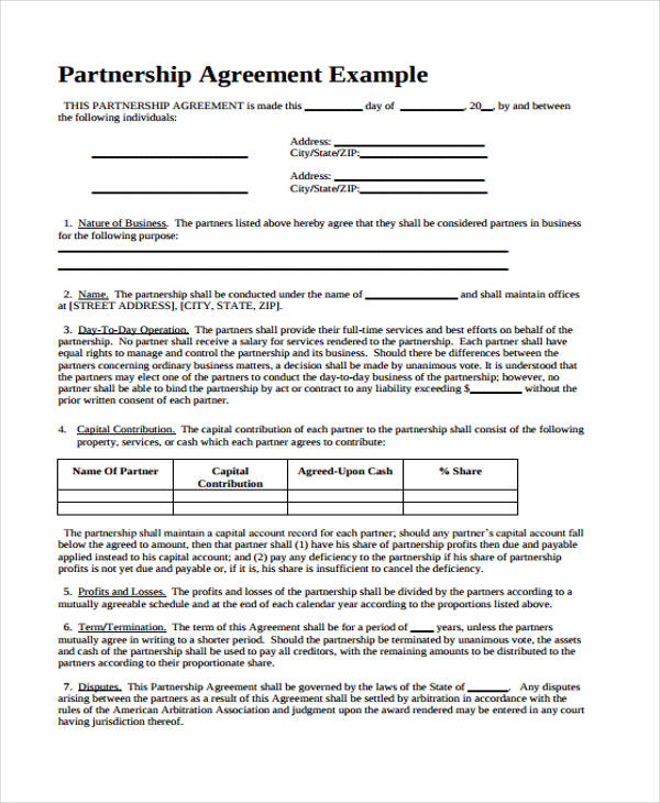 Free Business Agreement Form 30 Free Documents In Word PDF