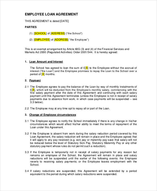 sample employee loan agreement1