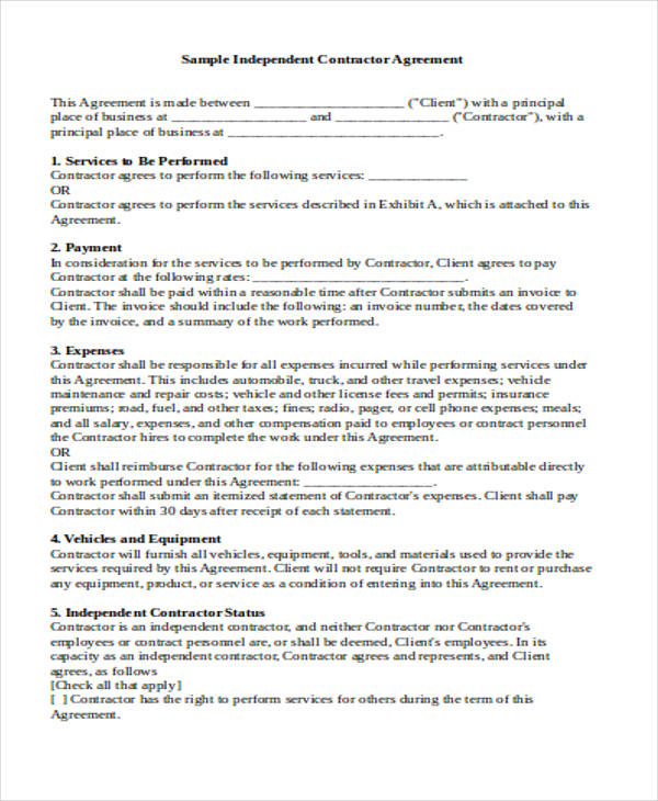 Contract Agreement Template Consulting Service Agreement Canada