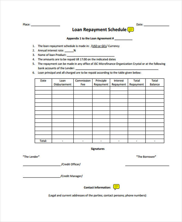 Sample Loan Repayment Agreement