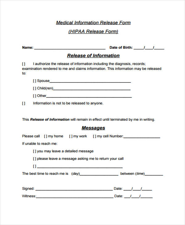 sample medical information release form1