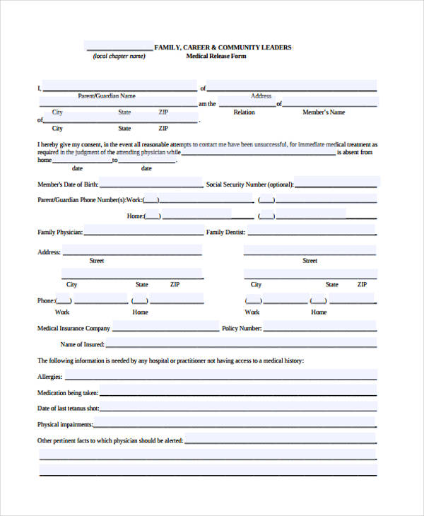 Comfortable Insurance Release Form Template Pictures Inspiration