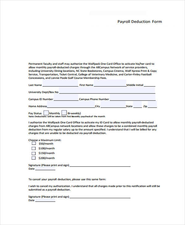 sample payroll deduction form1