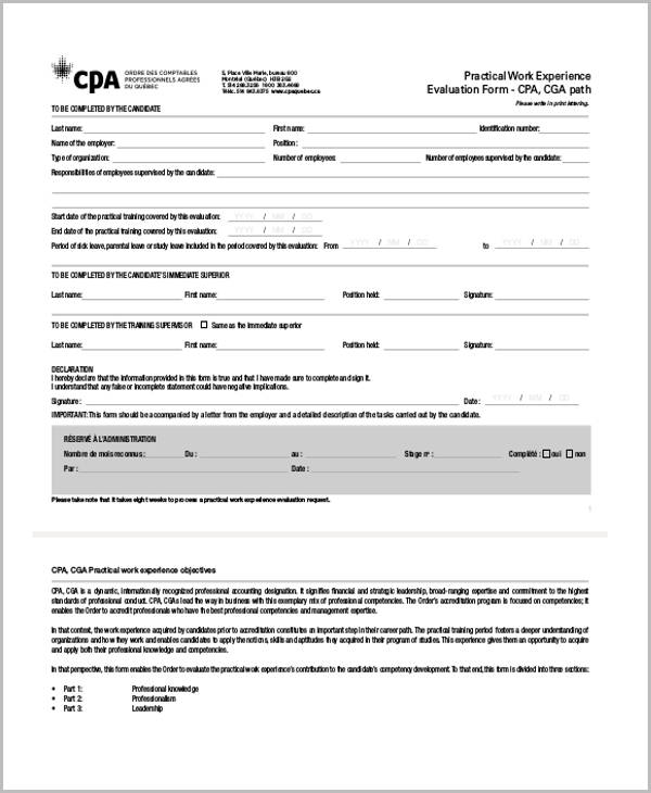Free Training Evaluation Form