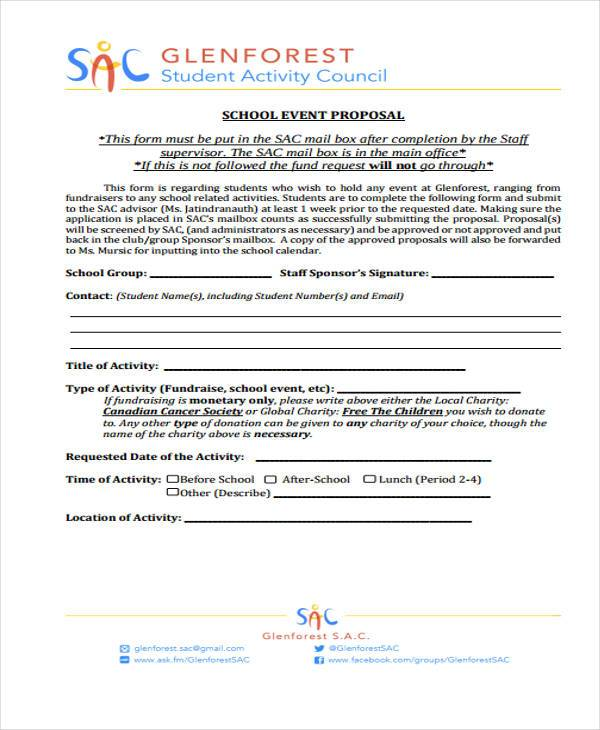 Proposal Form Templatescharity Proposal ProgramSpecific