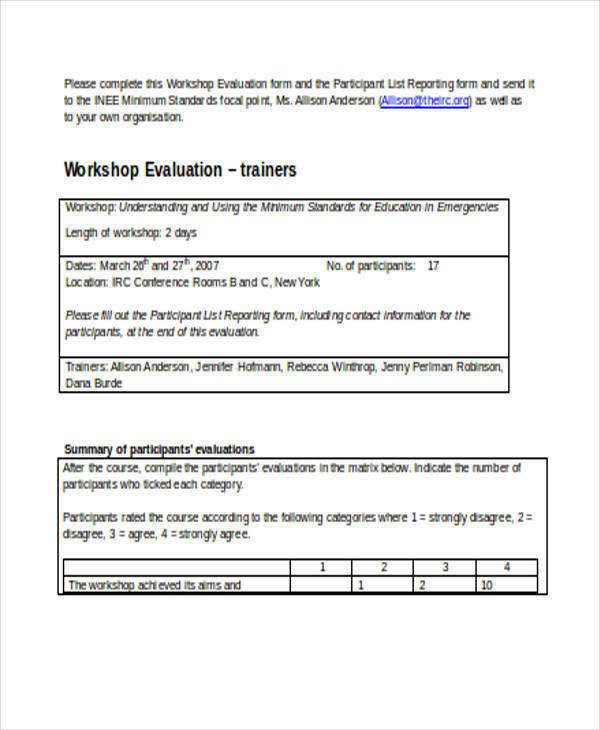 school training workshop evaluation form1