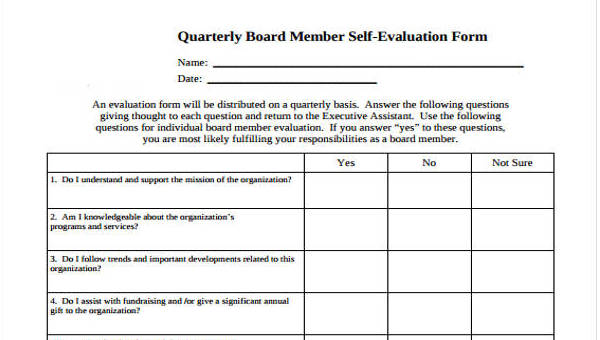 make an evaluation form  FREE 7+ Self-Evaluation Form Templates in PDF | DOC