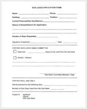 sick leave application form