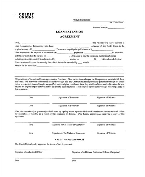 Simple Agreement Form Credit Promissory Note A Simple Form That