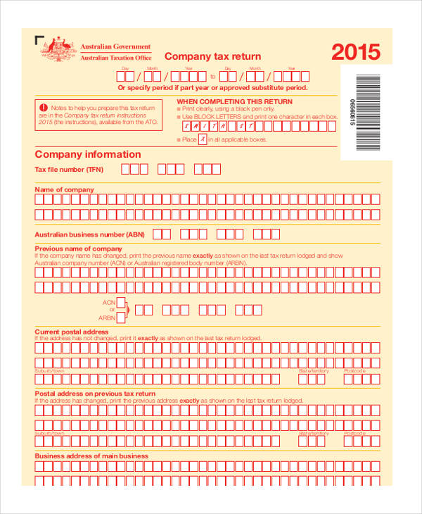 small business tax form
