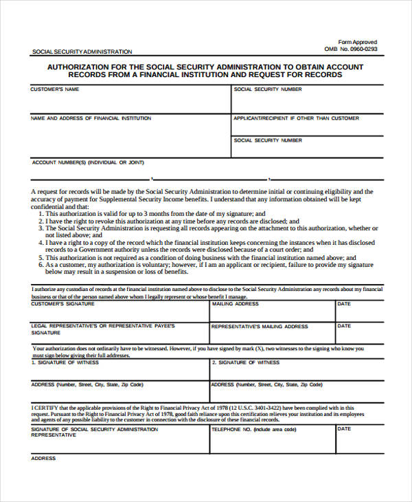 social security authorization form1