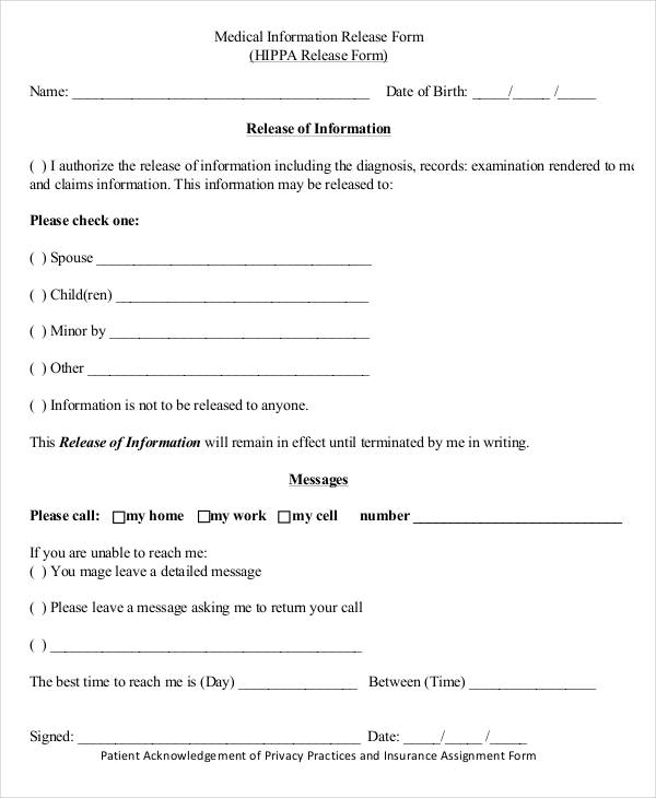 social security medical information release form1