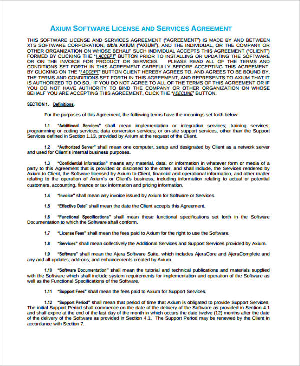 software license services agreement1